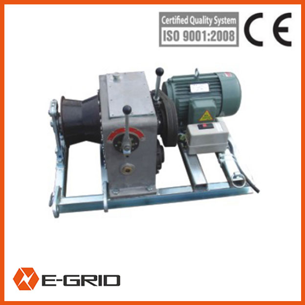 Electric engine powered winch