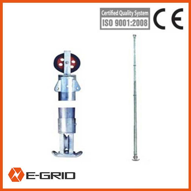 Aluminum alloy Inner suspended tubular gin pole